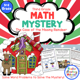 Solving Word Problems-Math Mystery-Case of the Missing Reindeer