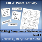 Sort:Writing Congruence Statement for Congruent Triangles