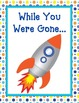 "Space Theme ""While You Were Gone"" Absent Work Folder"