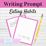 Spanish Buen Provecho Writing Prompt: Ready to print for E