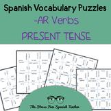 Spanish -AR Verbs, Present Tense Conjugation, Magic Square