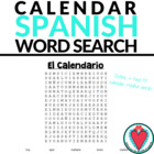 Spanish Calendar Word Search