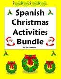Spanish Christmas Activities Bundle - Practice, Vocabulary