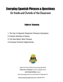 Spanish Classroom Phrases: Practical, Everyday Spanish