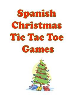 Spanish & ESL Christmas Tic Tac Toe Games