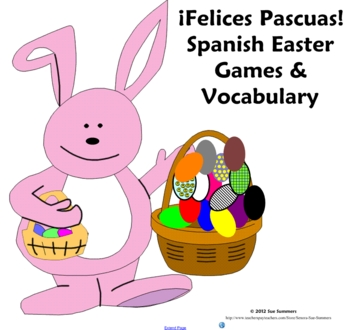 Spanish Easter Games, Activities and Vocabulary - La Pascua