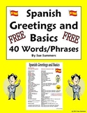 Spanish Greetings, Leave Takings & Basics Vocabulary Refer