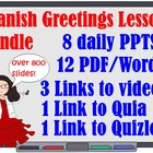 Spanish Greetings Lessons Bundle for First Week of School