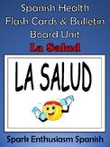 Spanish Health (La Salud) Flash Cards & Bulletin Board Unit