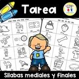 Spanish Homework: 012: TAREA Silabas mediales y finales: M