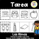 Spanish Homework:  015:  TAREA Las Rimas     Rhyming