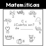 Spanish:  Letter C Counting Book 1-10 / Cuenta con la letra C