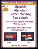 Spanish Letter Writing Card Box Labels