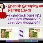 Find Your Spanish Partner:  Pairing and Grouping Cards Tem