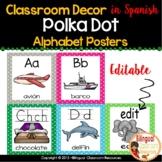 Spanish Polka Dot Word Wall
