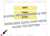 Spanish PowerPoint: Months in Order
