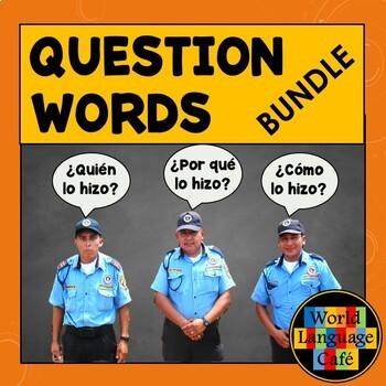 Spanish Question Words, Interrogatives, Interrogativos Les