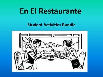 Spanish Restaurante Dialogue and Activities