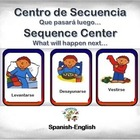 Spanish Sequence/Secuencia in a Station/Center Activity