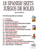 Spanish Skits Bundle of 18!  -  PDF
