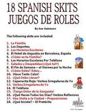 Spanish Skits Bundle of 18!  -  PDF