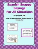 Spanish Snappy Sayings  (or Chants) For the Spanish Classroom