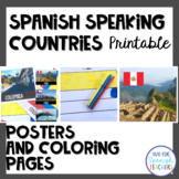 Spanish Speaking Countries Flags and Coloring Pages