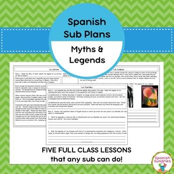 Spanish Sub Plans:  Hispanic Myths & Legends