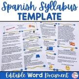 Spanish Syllabus