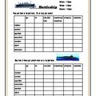 Spanish Verb Conjugation Activity Battleship