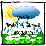 Spanish Weather and Calendar Vocabulary PICTURE Notes Powerpoint