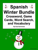Spanish Winter Bundle of 3 Worksheets and Game Cards