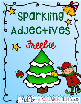 Sparkling Adjectives Christmas Freebie
