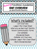 Special Education Functional Academics Unit Plans FOREVER FREEBIE