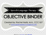 Speech-Language Therapy Objective Binder {PRINTER FRIENDLY}