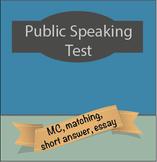 Public Speaking Test