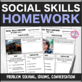 Speech Therapy 10 Month Social Pragmatics Homework Bundle
