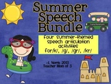 Speech Therapy Articulation Bundle Summer Theme