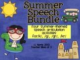 Speech Therapy Articulation Bundle Summer Theme