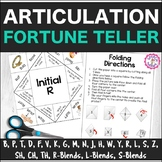 Speech Therapy Articulation Fortune Teller Origami Bundle