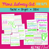 Speech Therapy Subway Art in Pastel and B&W