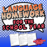 Speech and Language HW for a year