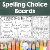 Spelling Choice Boards - Spelling Activities For Homework