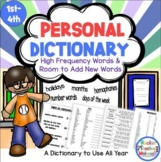 Spelling Dictionary - Reference Tool- New Common Core Standards