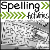Spelling Homework Menu {Editable Pages}