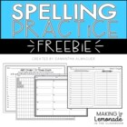 Weekly Spelling Practice Pages - Great for Homework or Sea