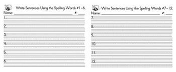 Spelling Sentence forms