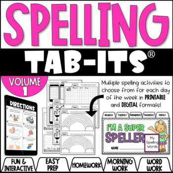 Spelling Tab-Its for Any Word List