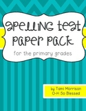Spelling Test Paper [for the primary grades]