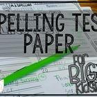 MORE Spelling Test Paper [for BIG Kids!]